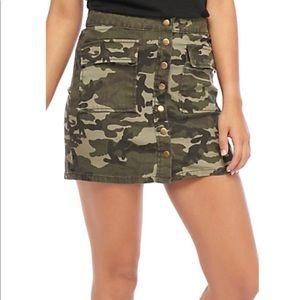 Ashley mason camo skirt